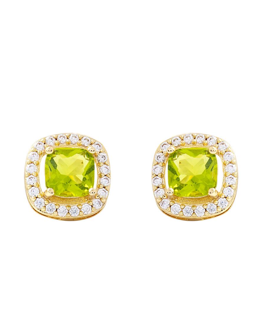 Juliet gold-plated pale lime earrings Sale - bertha