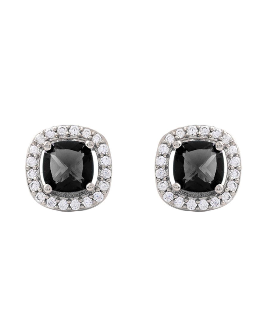 Juliet white gold-plated black earrings Sale - bertha