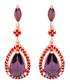 Juliet rose gold-plated plum earrings Sale - bertha Sale