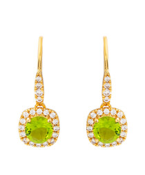 Juliet gold-plated lime drop earrings