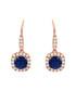 Juliet rose gold-plated navy earrings Sale - bertha Sale