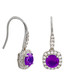 Juliet white gold-plated purple earrings Sale - bertha Sale
