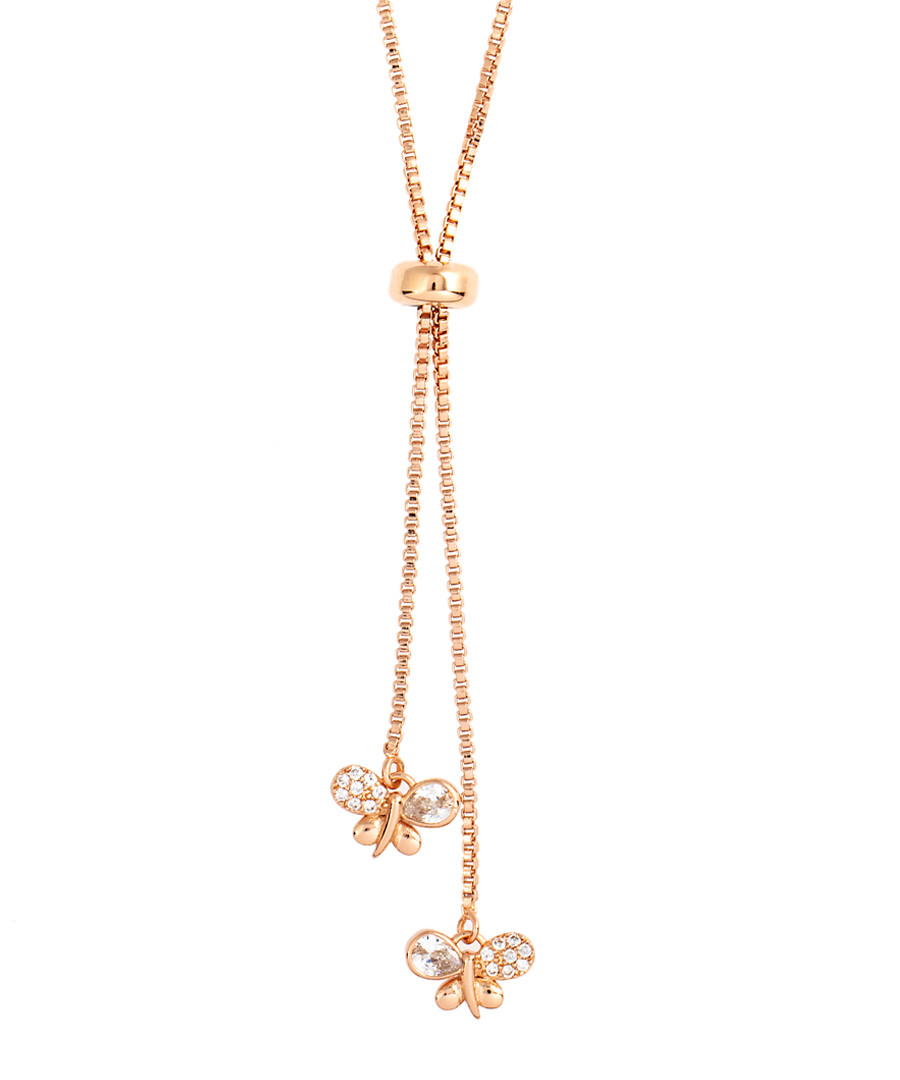 Kennedy rose crystal butterfly necklace Sale - bertha