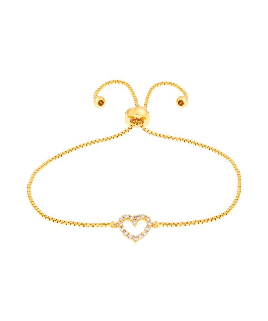 Kennedy gold-plated heart bracelet Sale - bertha
