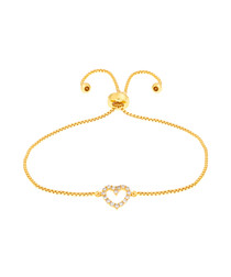 Kennedy gold-plated heart bracelet