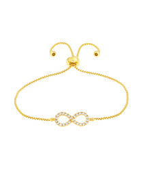 Kennedy gold crystal infinity bracelet