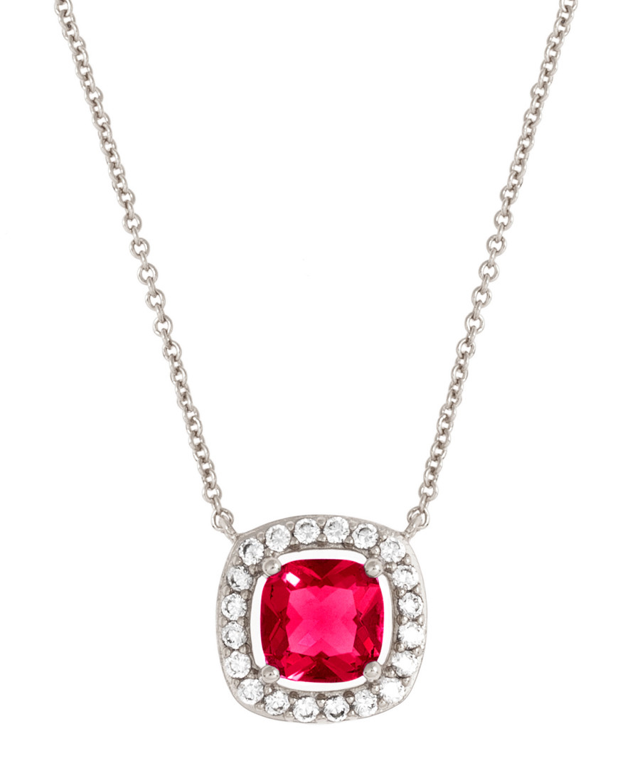 Juliet white gold-plated red necklace Sale - bertha