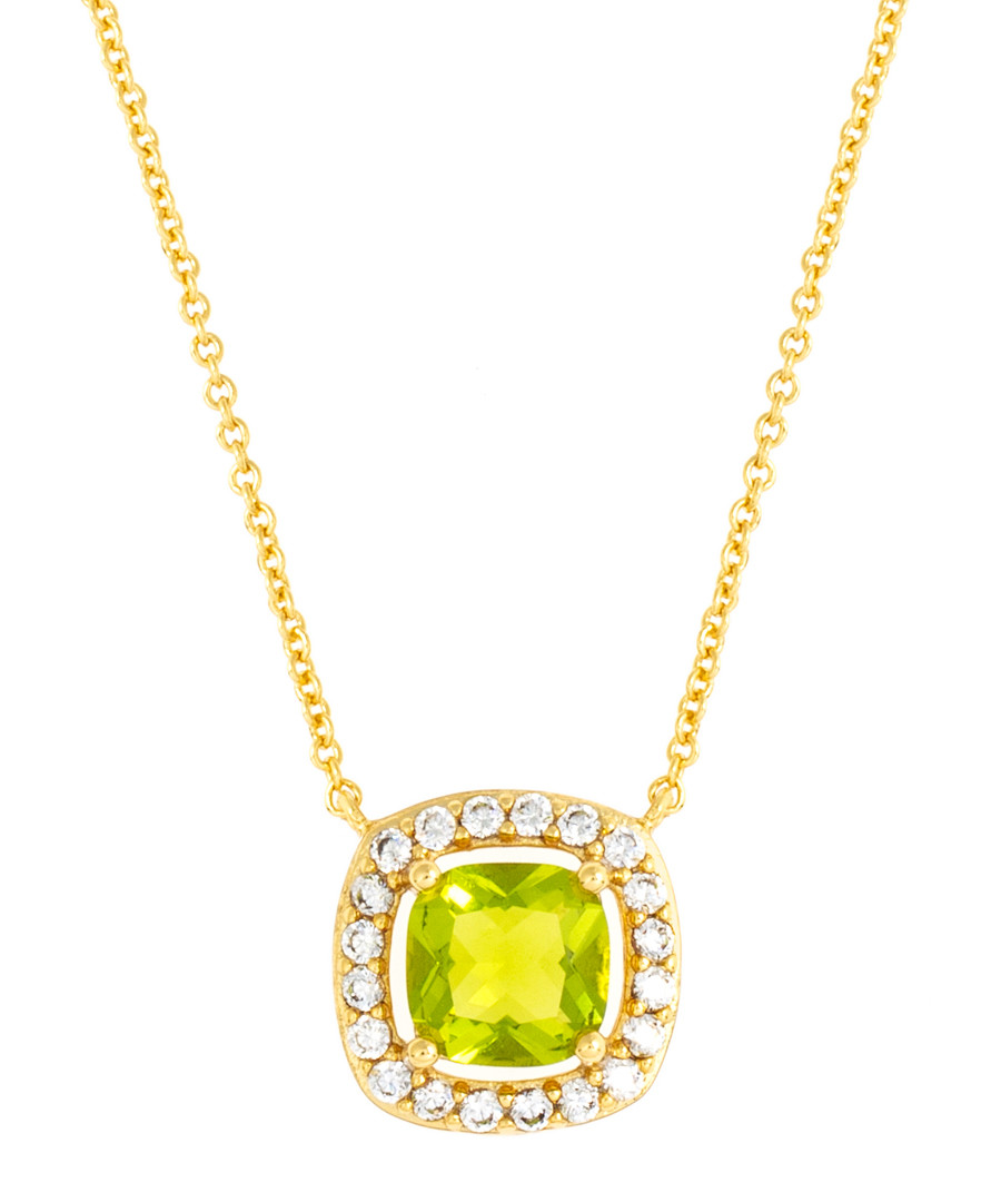 Juliet yellow gold-plated lime necklace Sale - bertha