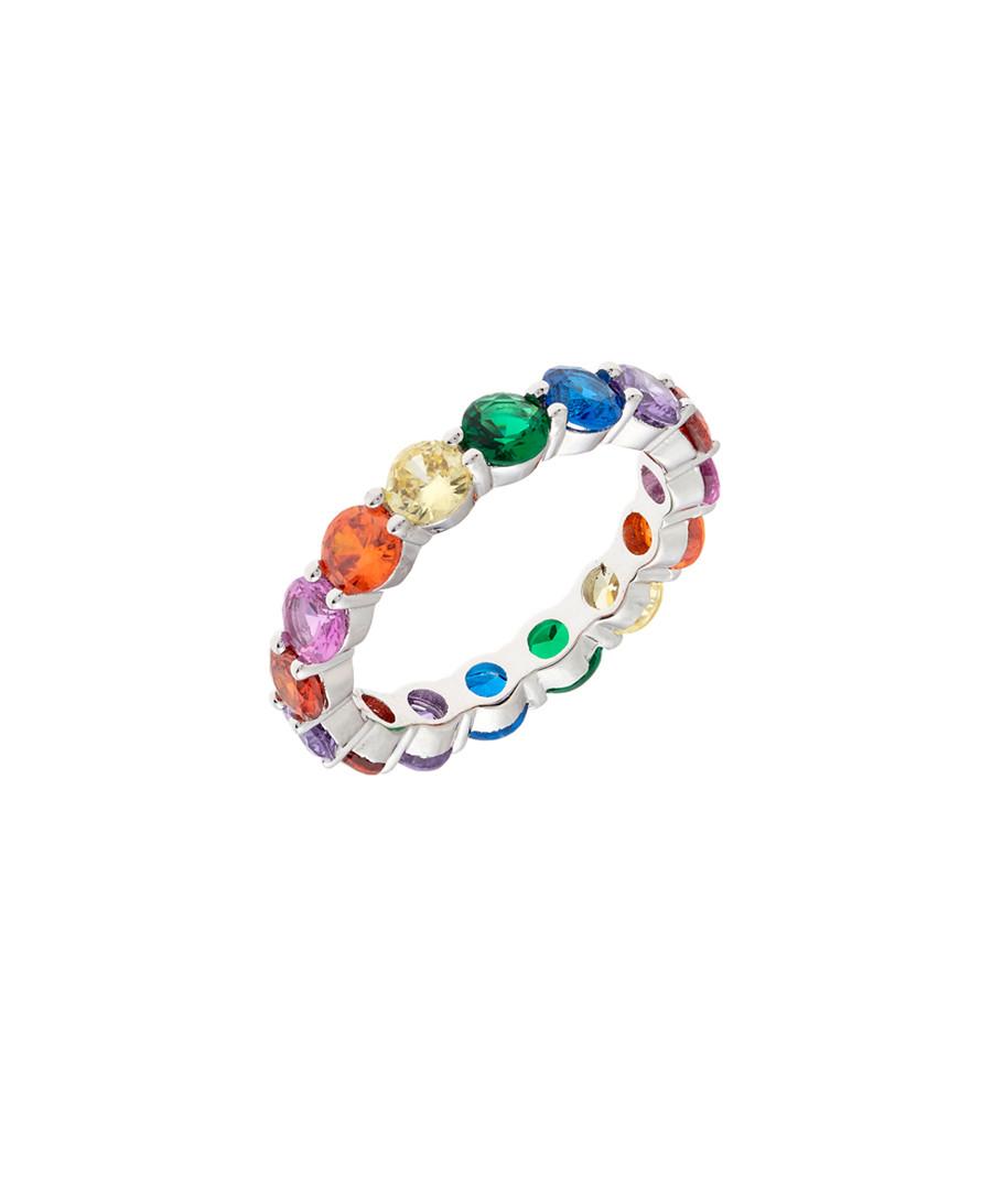 Juliet gold-plated rainbow crystal ring Sale - bertha