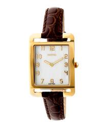 Marisol deep brown leather strap watch