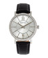 Lydia silver-tone & black leather watch Sale - bertha Sale