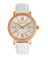 Lydia rose-tone & white leather watch Sale - bertha Sale