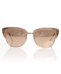 Rose gold-tone mirror club sunglasses