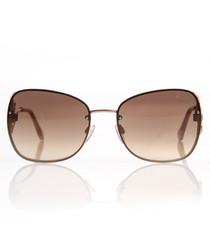 Rose gold-tone mirror sunglasses