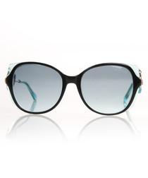 Black & blue lens sunglasses