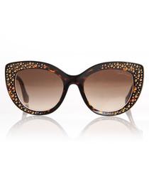 Havana bubble cat eye sunglasses