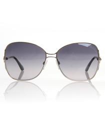 Silver-tone & grey lens sunglasses