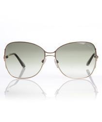 Pale green lens sunglasses