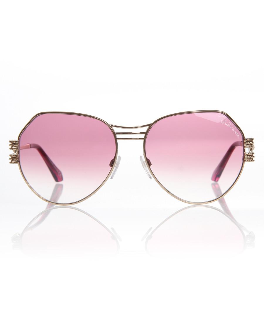 Bright rose asymmetric sunglasses Sale - Roberto Cavalli
