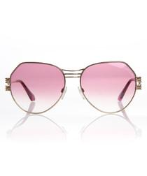 Bright rose asymmetric sunglasses