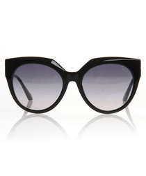 Black & grey lens cat eye sunglasses