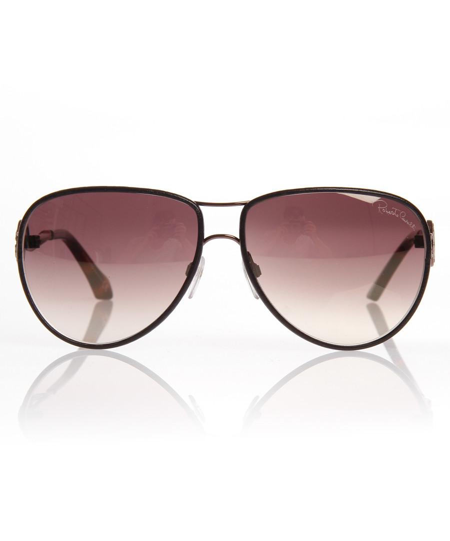 Bronze & brown mirror sunglasses Sale - Roberto Cavalli