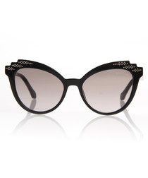 Black bubble cat eye sunglasses