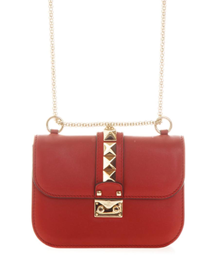 Red leather rockstud lock crossbody Sale - valentino
