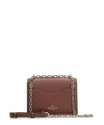 Uptown brown leather chain shoulder bag