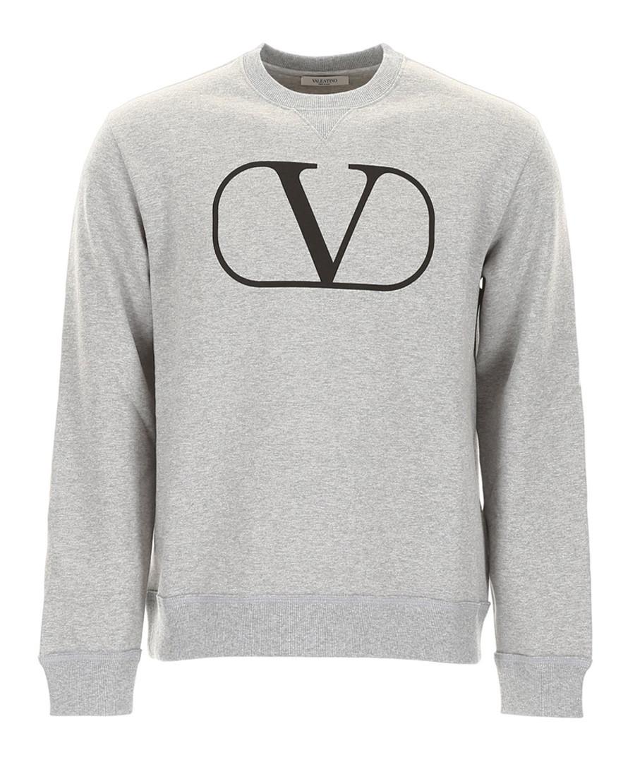 Grey pure cotton logo jumper Sale - valentino