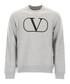 Grey pure cotton logo jumper Sale - valentino Sale