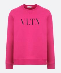 Fuchsia pure cotton VLTN sweatshirt
