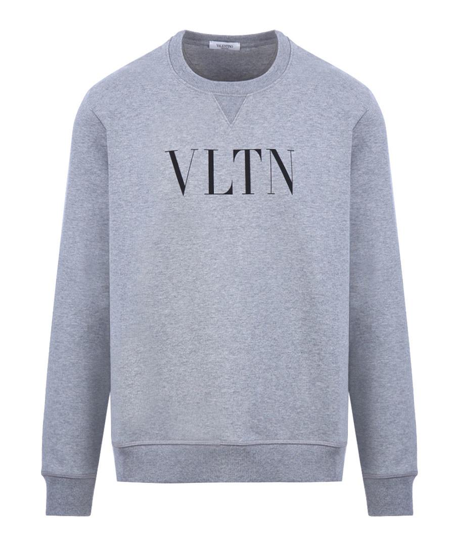 Grey cotton VLTN crew neck sweatshirt Sale - valentino