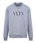 Grey cotton VLTN crew neck sweatshirt Sale - valentino Sale