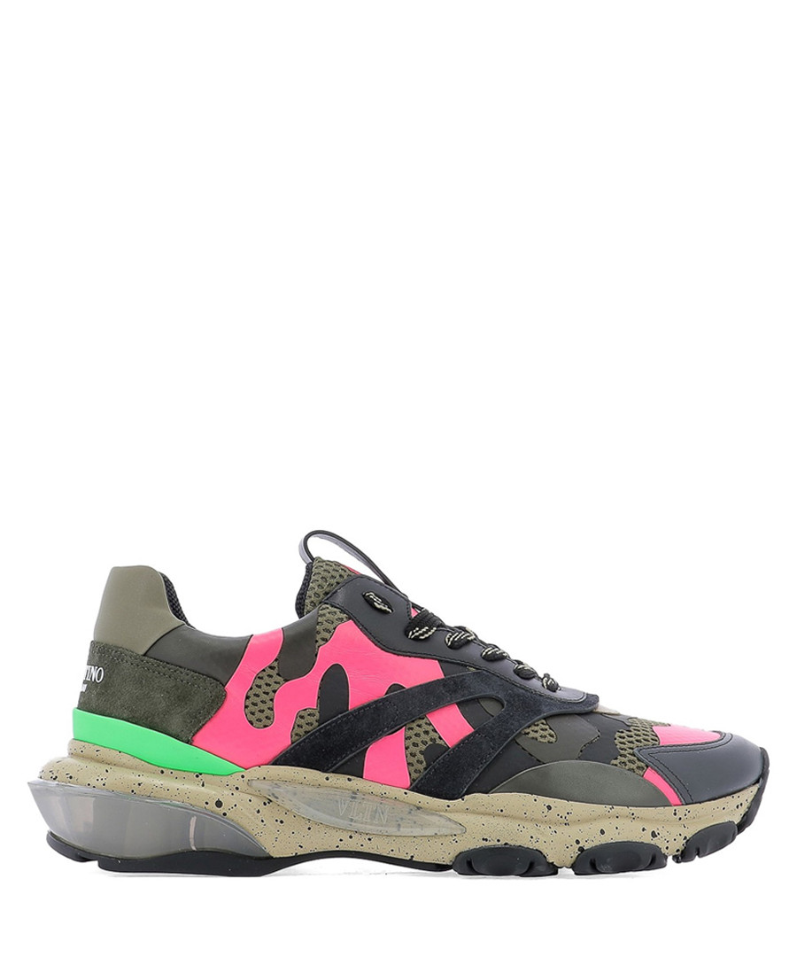 Bounce multi-colour camouflage sneakers Sale - valentino