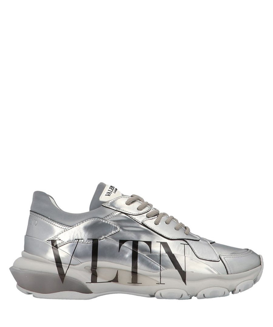 Bounce silver leather VLTN sneakers Sale - valentino garavani