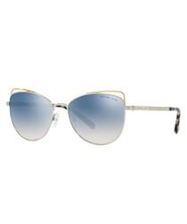 Silver-tone cat eye sunglasses