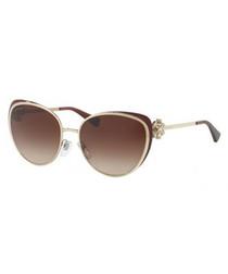 Red embellished frame sunglasses