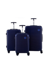3pc Horus navy suitcase set