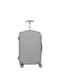 Horus silver-tone spinner suitcase 65cm