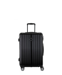 Uriel black spinner suitcase 65cm