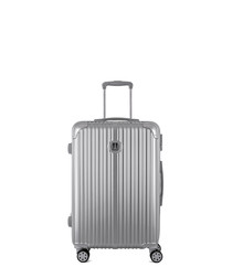 Uriel silver-tone spinner suitcase 65cm