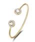 Ayla gold-tone Swarovski bangle Sale - mestige Sale