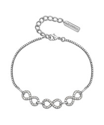 Never-ending silver-tone bracelet