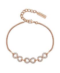 Never-ending rose gold-tone bracelet
