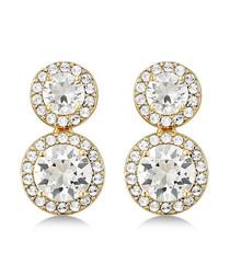 Alexa gold-tone Swarovski earrings