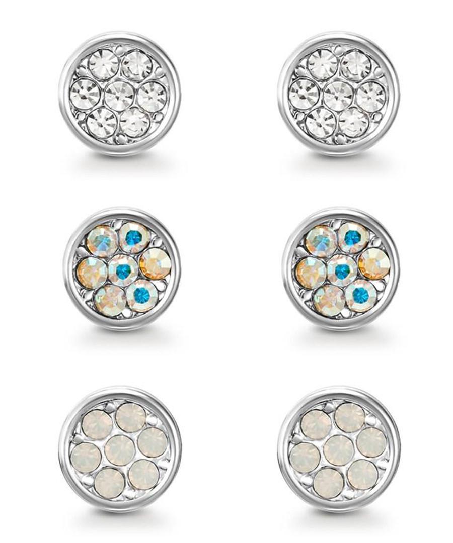 Elsie silver-tone Swarovski earring set Sale - mestige