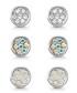 Elsie silver-tone Swarovski earring set Sale - mestige Sale