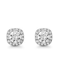 Halle silver-tone Swarovski earrings