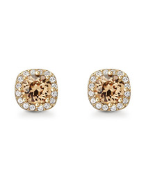 Halle gold-tone Swarovski earrings